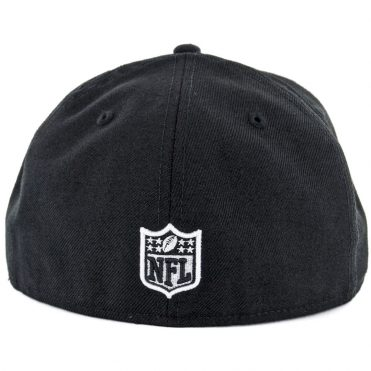 New Era 59Fifty Oakland Raiders Black White Fitted Hat