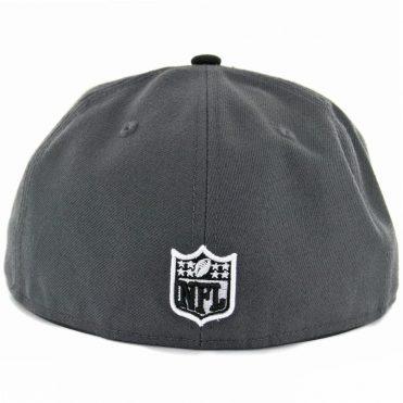 New Era 59Fifty Oakland Raiders Dark Graphite Black Fitted Hat