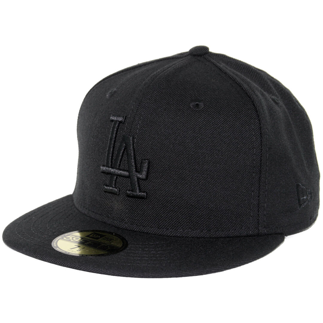 0c12aa776 New Era 59Fifty Los Angeles Dodgers Fitted Blackout, All Black Hat ...