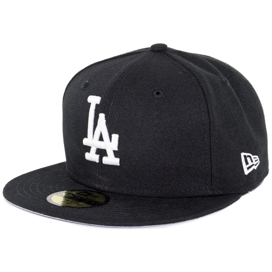 373509731 New Era 59Fifty Los Angeles Dodgers Fitted Black, White Hat ...