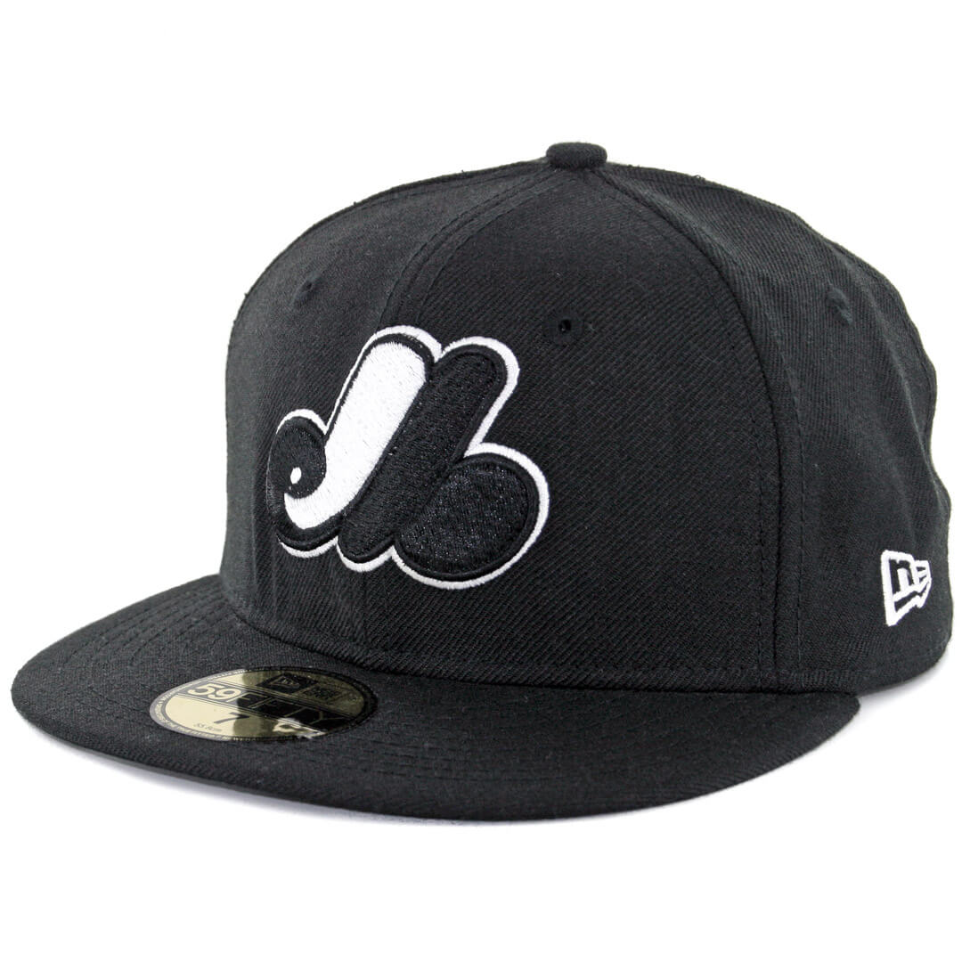 b30ab0114 New Era 59Fifty Montreal Expos Fitted Black, White Hat