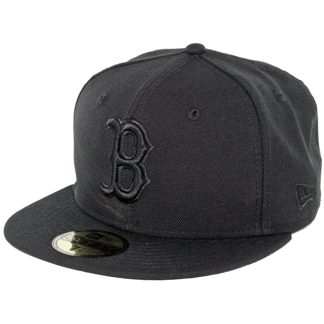 8d2d4afc0ff935 New Era 59Fifty Boston Red Sox Fitted Blackout, All Black Hat ...
