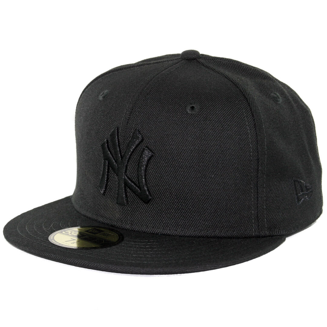 90d56da9627cce New Era 59Fifty New York Yankees Fitted Blackout, All Black Hat ...