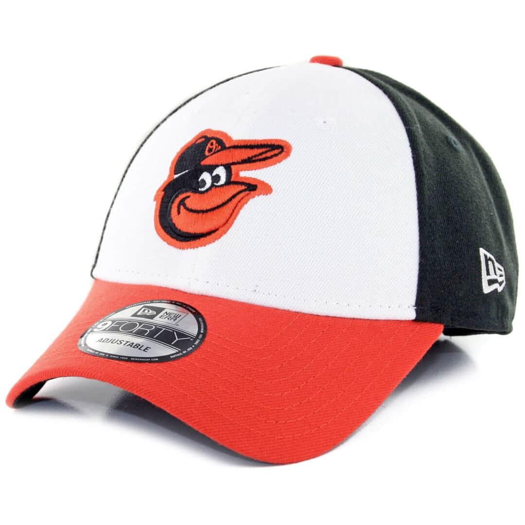 502263e602787f New Era 9Forty Baltimore Orioles The League Home Strapback Hat White Black  Orange