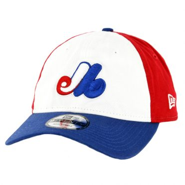 4dade937076854 New Era 9Twenty Montreal Expos Cooperstown Strapback Hat Royal Blue Red  White ...