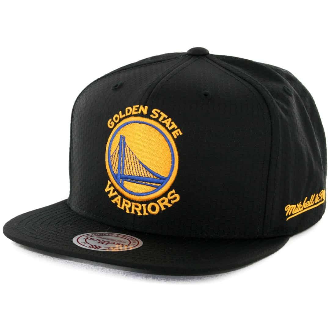 6ea5589c8fc7ed Mitchell & Ness Golden State Warriors Ripstop Honey Snapback Hat Black