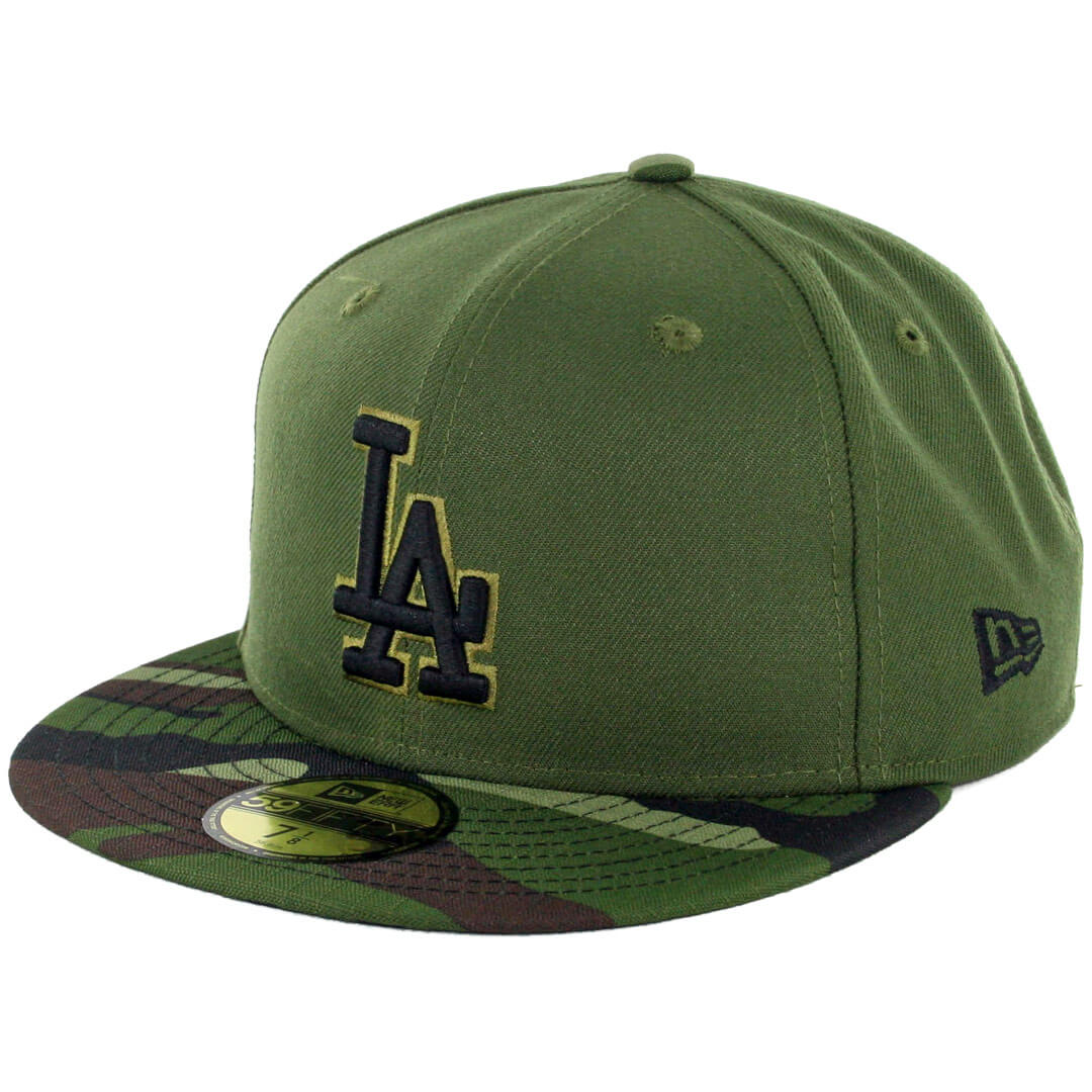 c4bacc33d5f44b New Era 59Fifty Los Angeles Dodgers 2017 Memorial Day Fitted Hat Hunter  Green Camo