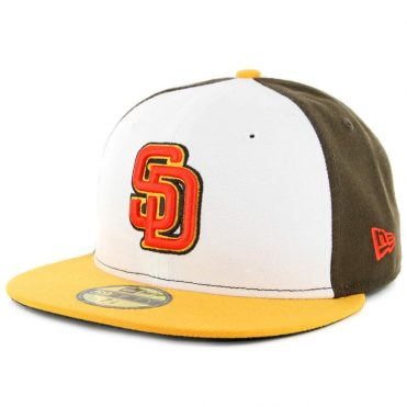 New Era x Billion Creation New Era 59Fifty San Diego Padres Fitted Hat Brown White Orange-Gold