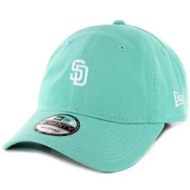 New Era 9Twenty San Diego Padres Micro Logo Strapback Hat Clear Mint White