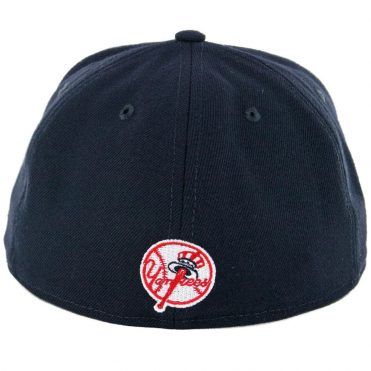 ... New Era 59Fifty New York Yankees Logo Popped Fitted Hat Dark Navy a28196673dc