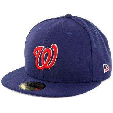 New Era 59Fifty Washington Nationals Patriotic Trim Fitted Hat Light Navy  ... 57f5b0b7b71