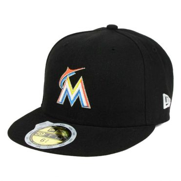 New Era 59Fifty Miami Marlins 2017 Home Youth Authentic On Field Fitted Hat