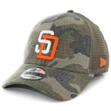 New Era 9Forty San Diego Padres Trucker Duel Snapback Hat Woodland Camouflage