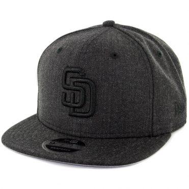New Era 9Fifty San Diego Padres Total Tone Snapback Hat Heather Black