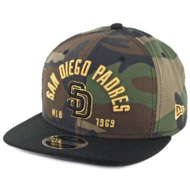 New Era 9Fifty San Diego Padres Establisher Snapback Hat Woodland Camo Black