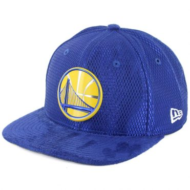 New Era 9Fifty Golden State Warriors 2017 On Court Snapback Hat Royal Blue