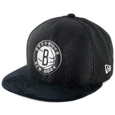9a4a7afc0 New Era 9Fifty Brooklyn Nets 2017 On Court Snapback Hat Black ...