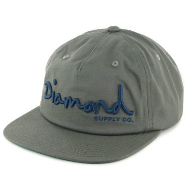 Diamond Supply Co OG Script SU17 Snapback Hat Grey