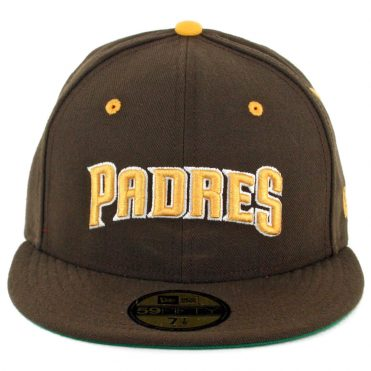New Era 59Fifty CTO San Diego Padres Word Fitted Hat Brown Gold