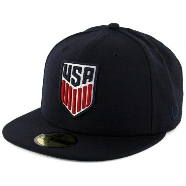 new product 9ce8f 9ae20 New Era 59Fifty FIFA United States of America Soccer Fitted Hat Dark Navy  ...
