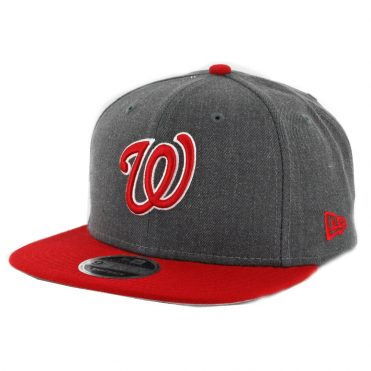promo code 99028 8ce14 New Era 9Fifty Washington Nationals Snapback Hat Heather Graphite Red ...