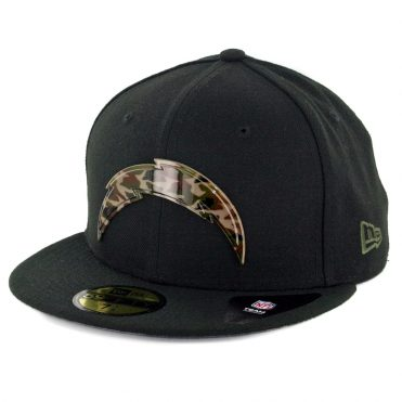 New Era 59Fifty Los Angeles Chargers Camo Badge Fitted Hat Black