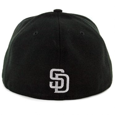 New Era 59Fifty San Diego Padres Flected Team Fitted Hat Black
