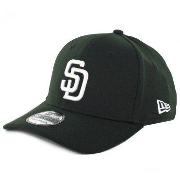 New Era 39Thirty San Diego Padres Stretch Fit Hat Black White