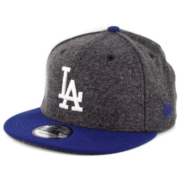 competitive price c92d1 30b2d New Era 9Fifty Los Angeles Dodgers Tweed Turn Snapback Hat Heather Graphite  Royal Blue ...