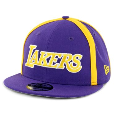 best website 56766 20d0f New Era 9Fifty Los Angeles Lakers Y2K X Seam Snapback Hat Purple ...