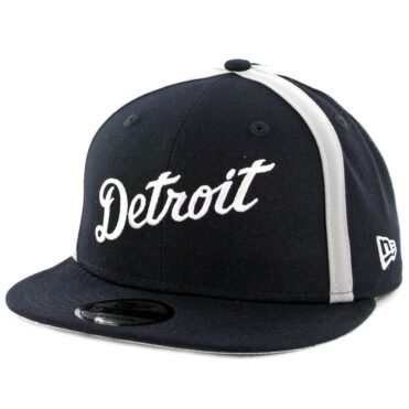 New Era 9Fifty Detroit Tigers Y2K X Seam Snapback Hat Dark Navy