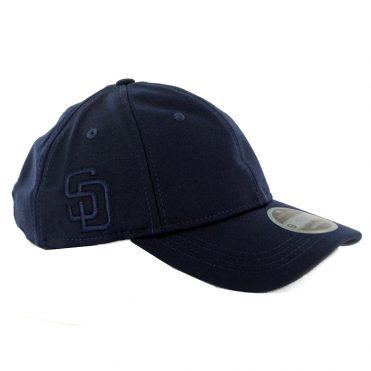 New Era 9Twenty San Diego Padres Suiting Strapback Hat Dark Navy
