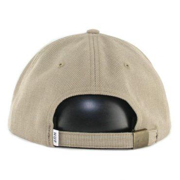 ... HUF Classic H 6 Panel Bedford Strapback Hat Khaki b9f12e23569