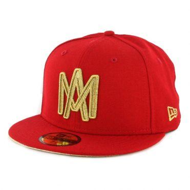 New Era 59Fifty Mexicali Aguilas Campeones Fitted Hat Scarlet Gold