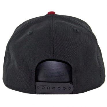 New Era 9Fifty San Diego Padres Snapback Hat Black Cardinal White