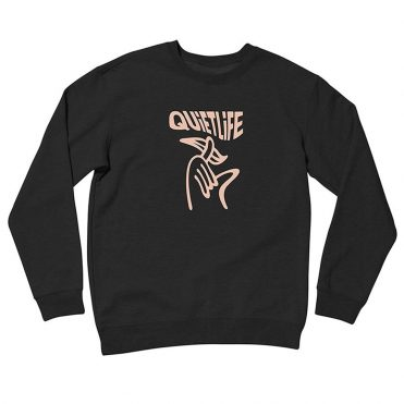 The Quiet Life Shhh Wavey Crewneck Sweatshirt Black