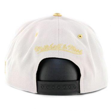 9d164e690f9 ... Mitchell   Ness Brooklyn Nets Gold Tip Snapback Hat Grey Black