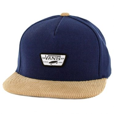 8cd2b12bd47 Vans Mini Full Patch Snapback Hat Dress Blues Khaki ...