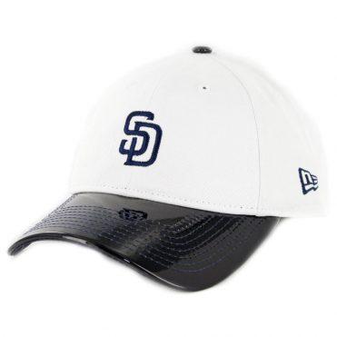 New Era 9Twenty San Diego Padres Retro Hook Strapback Hat White Navy