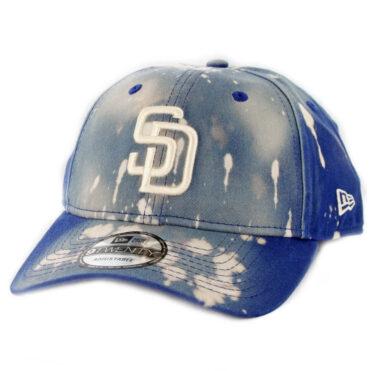New Era 9Twenty San Diego Padres Bleached Out Strapback Hat Light Royal