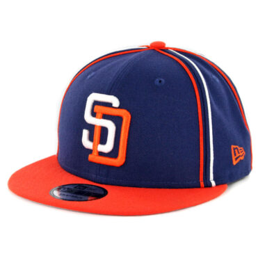 cc9c9990a5f New Era 9Fifty San Diego Padres Y2K Team Soutache Snapback Hat Navy Orange  ...