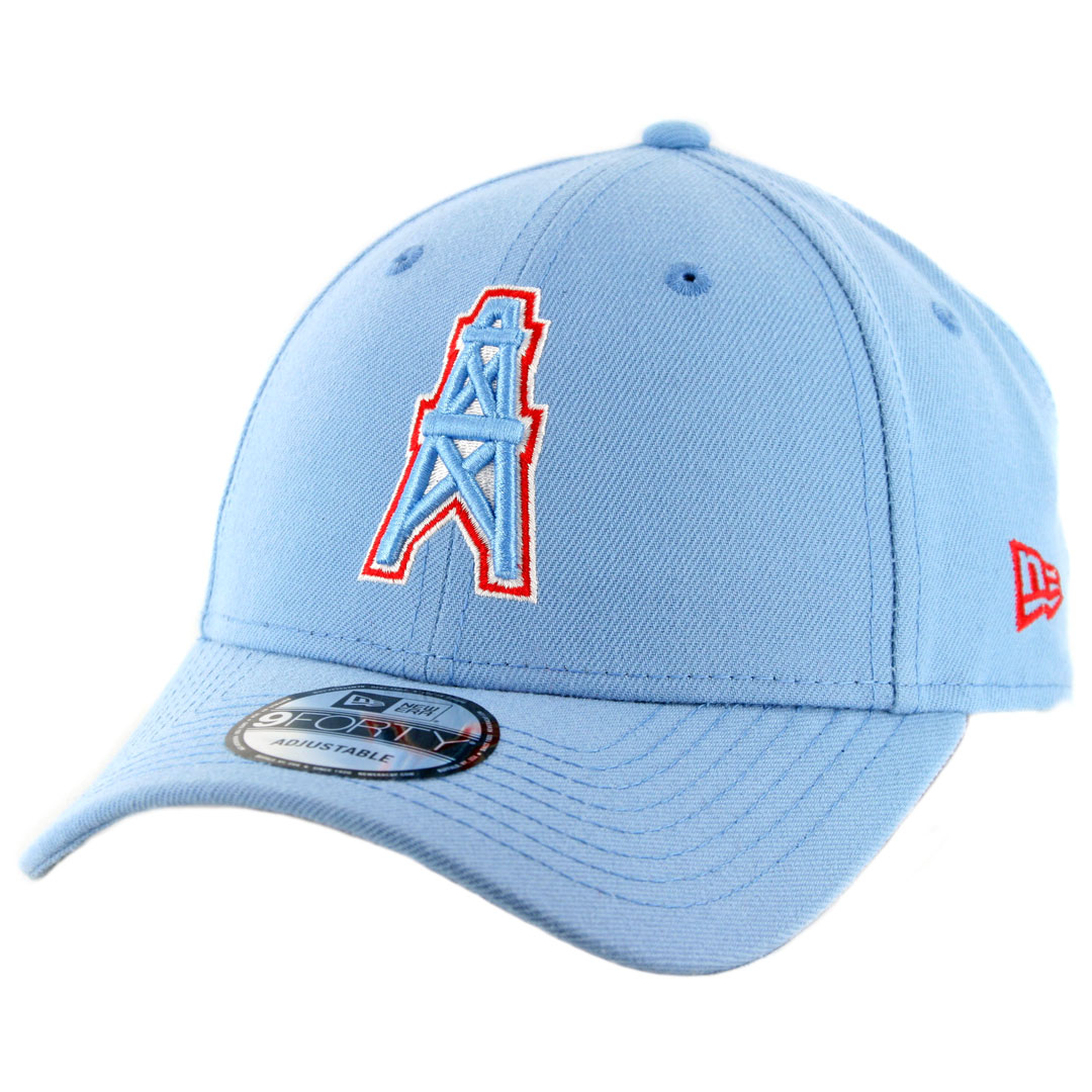 e20e74fab31bc7 New Era 9Forty Houston Oilers Snapback Hat Sky Blue - Billion ...