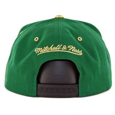 514e19971d8 ... Mitchell   Ness Boston Celtics Gold Tip Snapback Hat Kelly Green Black
