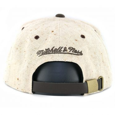 a30f25eb5a4 ... Mitchell   Ness Los Angeles Lakers The Natural Strapback Hat Tan Brown