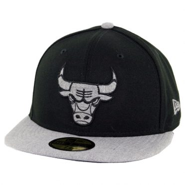 3e778c1f041be New Era 59Fifty Chicago Bulls Heather Fresh Fitted Hat Black Heather Grey  ...