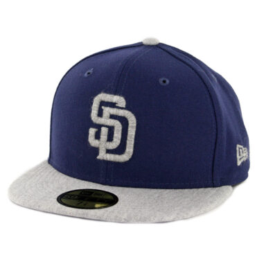 f8bfe02c71c7a New Era 59Fifty San Diego Padres Heather Fresh Fitted Hat Light Navy  Heather Grey ...
