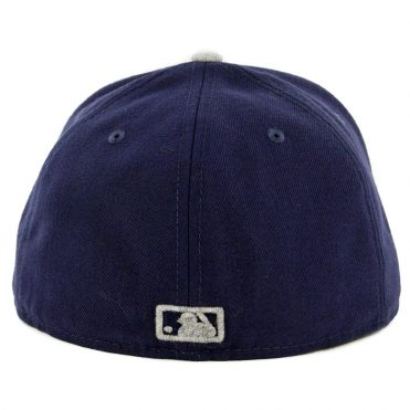 New Era 59Fifty San Diego Padres Heather Fresh Fitted Hat Light Navy Heather Grey