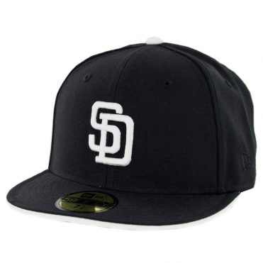 New Era 59Fifty San Diego Padres Turn Ahead The Clock Cooperstown Fitted Hat Black