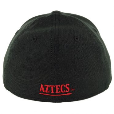New Era 39Thirty San Diego State University Aztecs Stretch Fit Hat Black