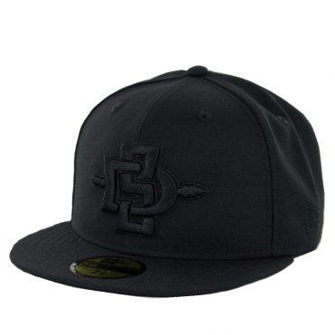 New Era 59Fifty San Diego State University Aztecs 2017 Fitted Hat Black
